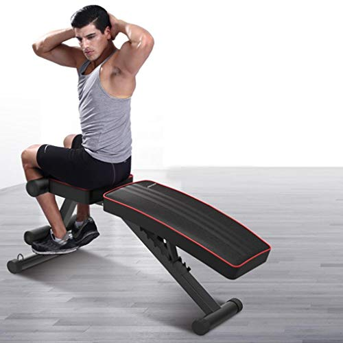 UPDD Adjustable Weight Bench for Full Body Workout   Multi-Purpose Foldable incline/decline Bench Sit Up Incline Abs Bench   Flat Fly Weight Press Fitness Home Gym(Black)