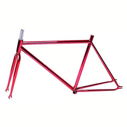 BOC 52 cm Fixed Gear Fahrrad-Rahmen-Straßenfahrradrahmen Fahrradrahmen aus Stahl überzog Fixie Retro-Fahrrad-Rahmen,B
