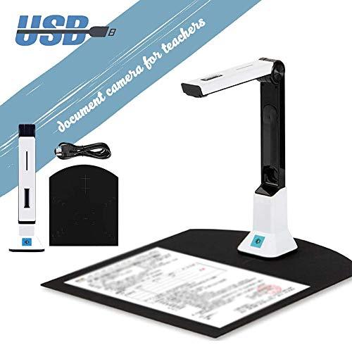 Delili Schnell-Scan Dokumentenscanner, Mit OCR-Funktion, Hochauflösender 8-Megapixel-USB-Dokumentenkamera Für Klassenzimmer Büro Bibliothek Bank Krankenhaus
