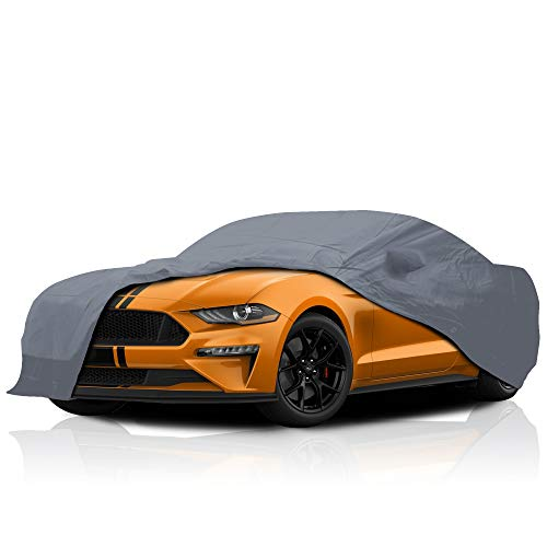 USCarCover 5 Layer Custom Fit Cover for Ford Mustang 1994-2004 UV Protection Durable Dustproof Full Coverage Windproof with Mirror Pockets