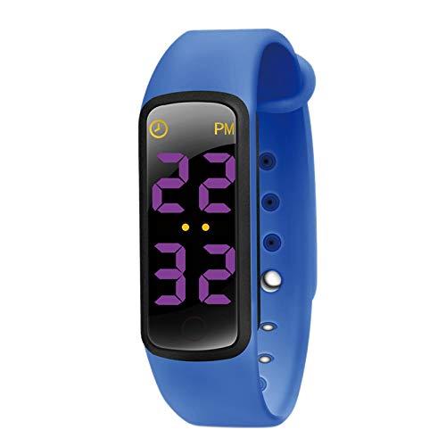 BMYUK Potty Training Watch - Temporizador de Recordatorio para BebéS Resistente l gua - Entrenador de Urinario para Ni?As y Ni?Os - Pantalla LED, 9 Canciones de Bucle - zul