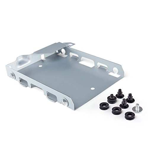 Gametown Hard Disk Drive HDD Mounting Bracket Caddy with Screws for PS4 Playstation Replacement Housing
