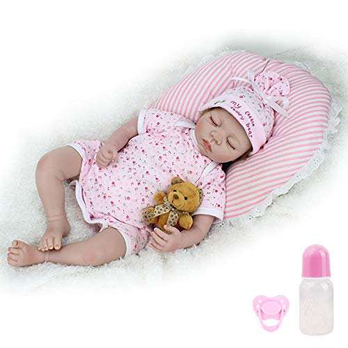 """CHAREX Reborn Baby Doll Lifelike Sleeping Newborn Dolls 22/"""" Soft Silicone Vinyl Weighted Girl Gift Set for Ages 3+"""