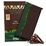AMMA Organic Dark Chocolate - 75% Cacao - Vegan - Kosher - Halal