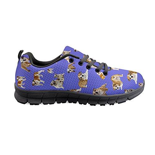 Shinelly Sportschoenen voor heren, met hondenmotief, loopschoenen, sneakers, ademend, lichte trailloopschoenen