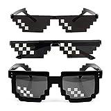 ドットサングラス モザイク メガネ モザイク サングラス 二次元 メガネ ドットサングラス 紫外線カット男女兼用 面白いメガネ クレイジーアイズ