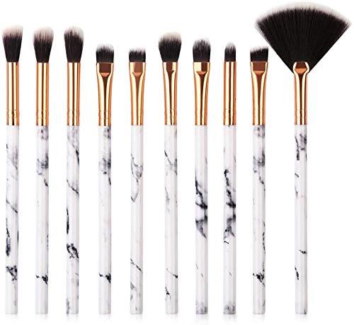 Ensemble de pinceaux de Maquillage, 10 Pcs Ensemble de pinceaux de Maquillage Foundation Blush Eye Makeup Brushes Foundation Concealer Lip Brush Makeup for Women