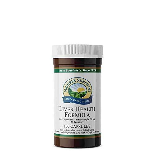 Nature's Sunshine Liver Health Formula - 100 Capsules - Contains Turmeric, Gentian & Burdock Root