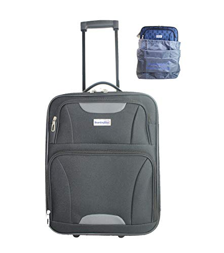 18' Personal Item Under Seat Basic Luggage for Spirit, AA, Frontier airlines (BK)