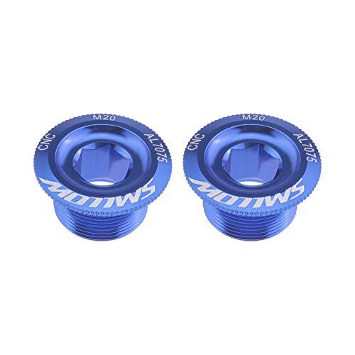 2 Stück Blau M20 Fahrrad Kurbelarm Befestigungsschrauben Kurbelgarnitur Schrauben aus Aluminiumlegierung für Shimano Mountain Rennrad