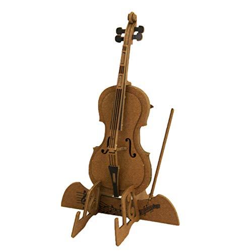 JIGZLE Cello 3D Paper Puzzle DIY Kit - Laser Cut Miniature Musical Instruments
