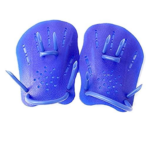 Las paletas de natación fuerza guantes de la mano de formación paletas Swim Eléctricas en adultos principiantes de natación para niños Blue M para canotaje, kayak, natación, pesca, surf, playa