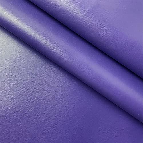 ZXC 138 cm de Ancho Venta De Polipiel por Metros Tejido De Piel SintéTica por Tapizar,Polipiel,Manualidades,Vinilo,Cojines o Forrar Objetos 1m Vendido por Metro(Color:púrpura)