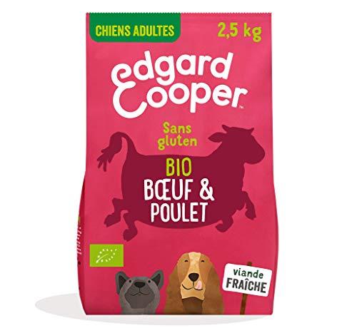 Edgard & Cooper Croquettes Chien Adulte 100% Biologique 7kg Nourriture Naturelle sans Gluten, Viande fraiche élevée en liberté, Alimentation Saine complète équilibrée (Boeuf & Poulet Bio, 2.5 kg)