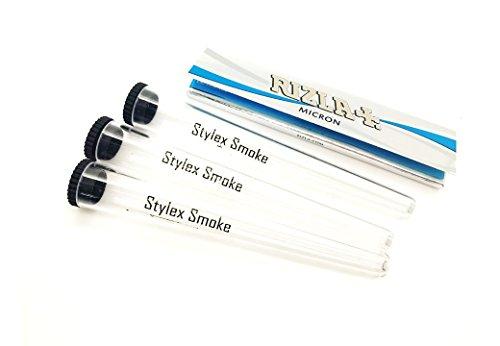 3 Effacer Cigarette Tube support et papier à rouler rizla Micron 1 Lot de fumer kit UK