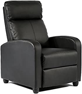 FDW Wingback Recliner Chair Leather Single Modern Sofa...