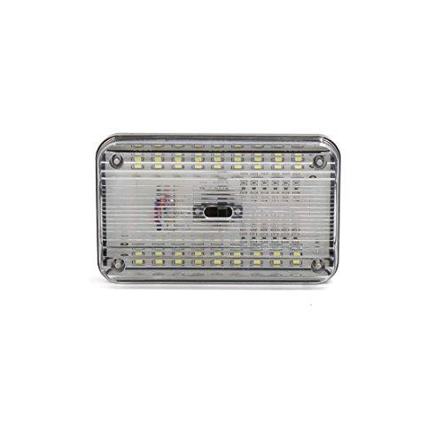 sourcing map DC 12V 36 SMD LED Blanc toit dôme rectangulaire plafonnier pour intérieur voiture