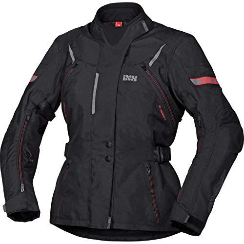 IXS Motorradjacke mit Protektoren Motorrad Jacke Tour Liz-ST Damen Textiljacke schwarz/rot XL, Tourer, Ganzjährig, Polyester