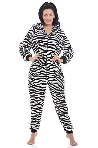 Pijama de mujer - con estampado de cebra 42/44, tamaño de etiqueta: M