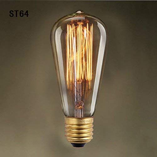 Plafondlamp Edison Bulb zijde koolstofzijde licht voor stang gepersonaliseerd en restaurant kandelaar draad St64 eenvoudige gloeilamp dsadsgfd