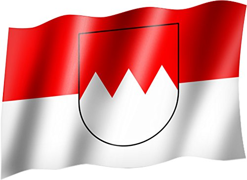 Flagge/Fahne FRANKEN Staatsflagge/Landesflagge/Hissflagge mit Ösen 150x90 cm, sehr gute Qualität