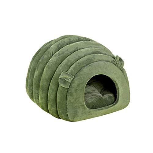 XINGYUE Cama plegable 2 en 1 para mascotas/cueva, cama para gatos y cueva, cama para perros pequeños, suave, cálida y lavable, sofá cama de invierno cálido para cachorros con una almohada