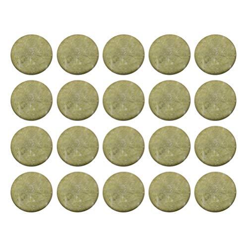 Healifty 20pcs extension de cils colle de pierre de jade cils palette de pierre de jade adhésif faux cils base