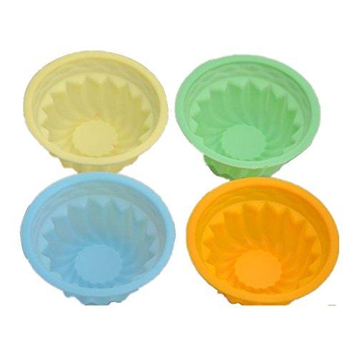 Allforhome Moule à Oeuf Moule à Tarte en Silicone en Forme de Chapeau Tasse à muffin gelée Pudding moule (Lot de 4)