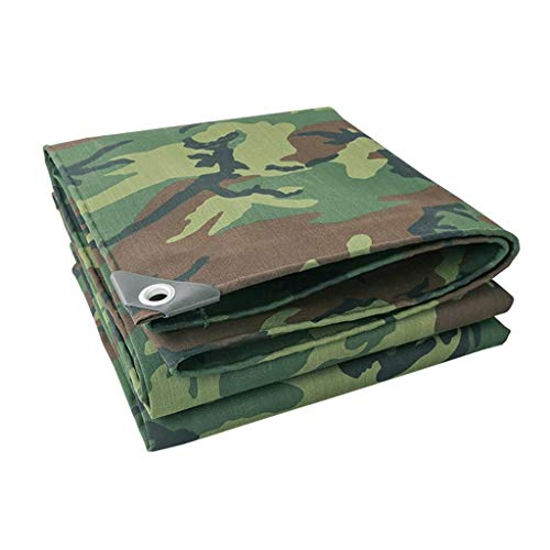 Gxmyb Outdoor Verdikking Camouflage Tarpaulin Canvas Tent Poncho Zonnescherm Poncho Doek Tarpaulin Waterdicht