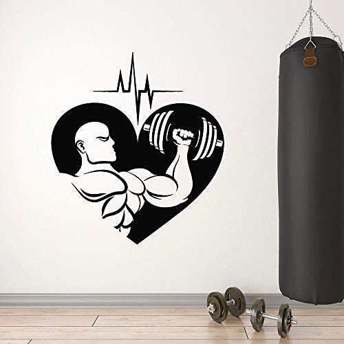 wopiaol Spieren Cardio Muursticker Fitness Club Gym Training Kamer Interieur Decor Liefde Sport Deur Venster Vinyl Stickers Art Wallpaper