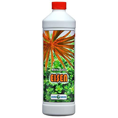 Aqua Rebell ®️ Micro Basic Eisendünger - 1 Literflasche - optimale Versorgung für Ihre Aquarium Wasserpflanzen - Aquarium Eisenvolldünger speziell für Wasserpflanzen entwickelt