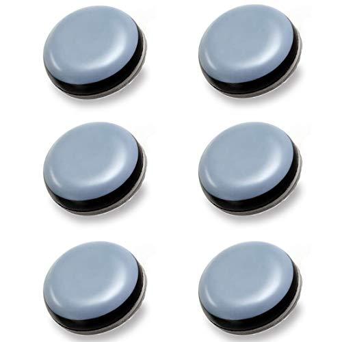 elbstklebende Möbelgleiter, Furniture Glides, Selbstklebend PTFE Gleiter, Teflon Möbelgleiter für ein leichtes Verschieben schwerer Möbel, Schutz Laminat und Teppich - 6 Stück