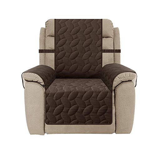 SUNNYTEX Waterproof Recliner Cover, Recliner Chair Slipcover Non-Slip Recliner Sofa Couch Cover Furniture Protector for Pets Children&Dog(Recliner,Chocolate)