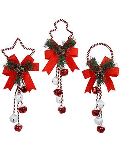 Kurt Adler 14' Metal Christmas Bell Door Hanging Ornament (Set of 3)