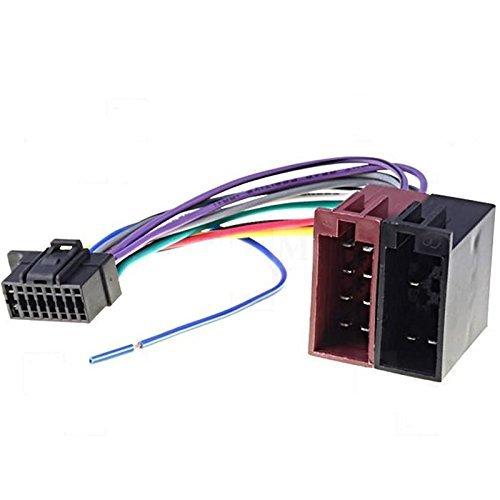 Kabel Anschluss Adapter ISO für Autoradio Sony CDX 1000, CDX 7100, CDX-G1000U 21.5x10mm TechExpert