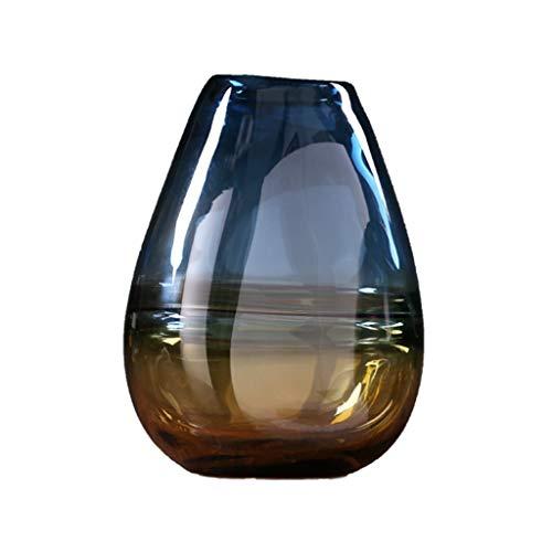 AFQHJ Glazen vaas thuis woonkamer TV kast hydroponische bloem arrangement, grootte optioneel, kleur vaas