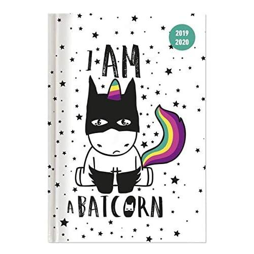"""Diario agenda scuola collegetimer """"Batcorn"""" 2019/2020 - Giornaliera - 352 pagine - 10x15 cm"""