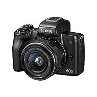 Canon EOS M50 Mirrorless Vlogging Camera Kit with EF-M 15-45mm Lens, Black