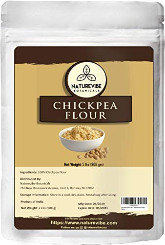Naturevibe Botanicals Chickpea Flour 2Lb | Gluten Free & Non GMO | Rich in Fiber and Protein [Packaging may Vary]