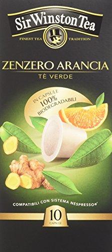 Sir Winston Tea Tè Verde Zenzero Arancia - 3 Confezioni da 10 capsule