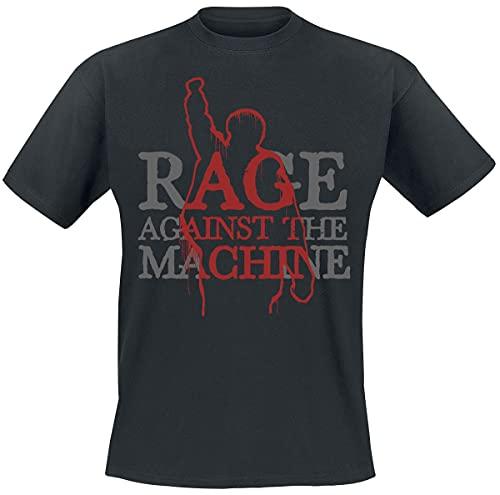 Rage Against The Machine Bola Figure Hombre Camiseta Negro L, 100% algodón, Regular