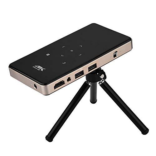Micro proyector 4K 30-120in Conexión de teléfono inalámbrico 2.4G WiFi Bluetooth Miracast...