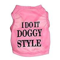 MEIDELE 超薄型通気性ペットベストペット服犬Tシャツ (色 : ピンク, サイズ : M)