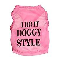 LNLW ペット服犬Tシャツペットシャツ子犬服 (色 : ピンク, サイズ : S)