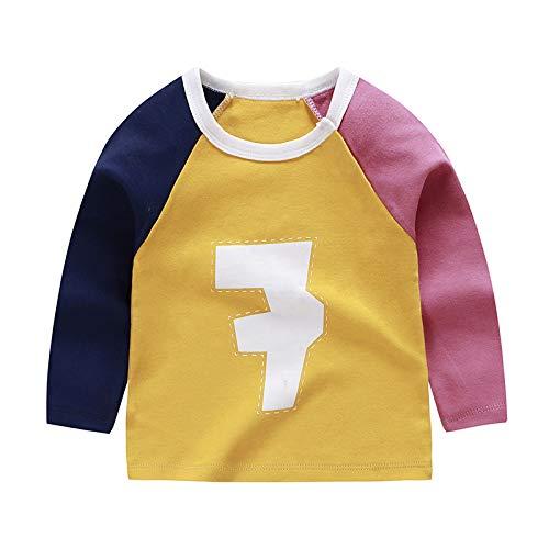 GAO Kinderkleidung Langärmliges T-Shirt Für Jungen Und Kinder Single-Top Aus Baumwolle Herbsthemd Für Mädchen,C-73cm
