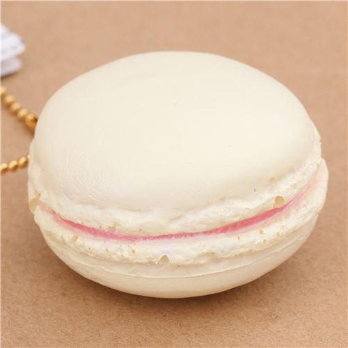 Süßer niedlicher grauweißer Macaron Leckerei Cafe de N Squishy Handy Anhänger