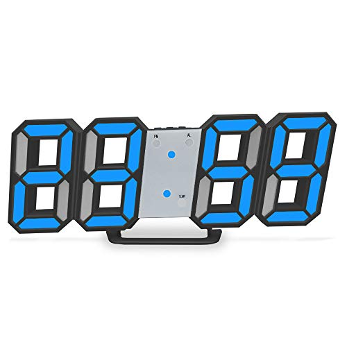 LUOYLYM Sezione Creativa Della Temperatura Della Sveglia Digitale Fissata Al Muro Dell'Orologio Digitale 3D Sveglia Digitale