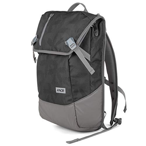 AEVOR Daypack - erweiterbarer Rucksack, ergonomisch, Laptopfach, wasserabweisend, Palm Black