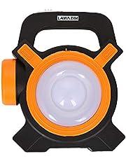 Portable Double Lantern Flashlight Orange/Black 5x6centimeter
