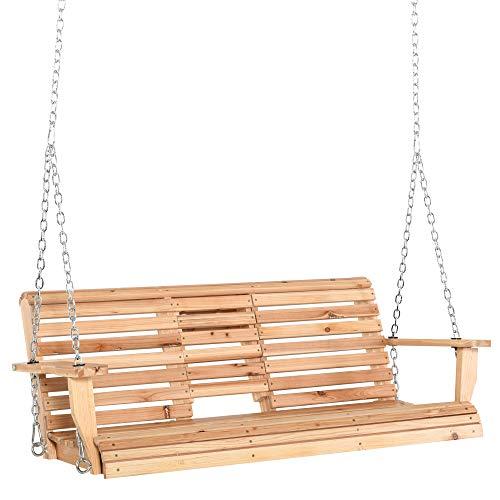 dondolo da giardino 4 posti legno Outsunny Dondolo Sospeso 3 Posti